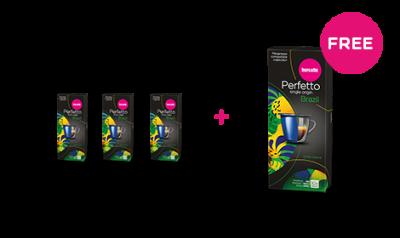 Barcaffe Perfetto Espresso Single Origin Brazil 55 g 3+1 FREE
